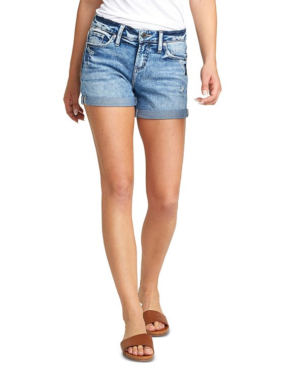 Silver Jeans Co. Elyse Cuffed Denim Shorts