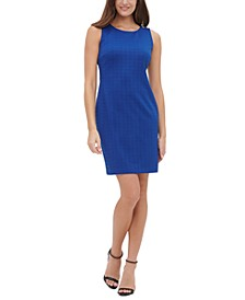 Grid-Knit Sheath Dress