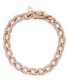 Diamond (2-1/6 ct. t.w.) Cuban Link Bracelet in 14K Rose Gold