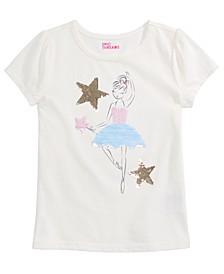 Little Girls Reversible-Sequin Ballerina T-Shirt, Created for Macy's