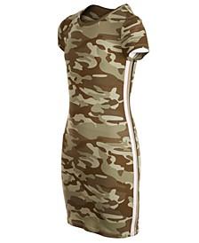 Big Girls Camo Side-Tape Dress, Created For Macy's