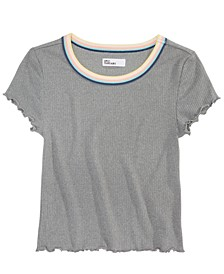 Big Girls Lettuce-Edge T-Shirt, Created for Macy's