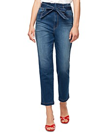 Modern Standard Belted Cropped Jeans