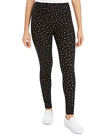 Juniors' Printed High-Waisted Leggings