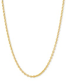 """Oval Cable Link 18"""" Chain Necklace in 18k Gold-Plated Sterling Silver"""