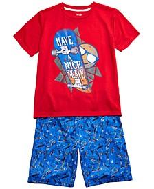 Big Boys 2-Pc. Have a Nice Skate Pajamas Set