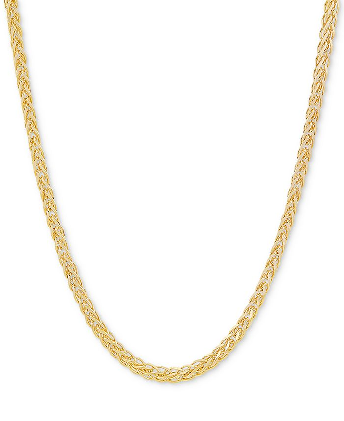 """Giani Bernini - Wheat Link 24"""" Chain Necklace in 18k Gold-Plated Sterling Silver"""
