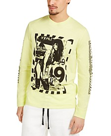 Men's Neon Poster Girl Long-Sleeve T-Shirt