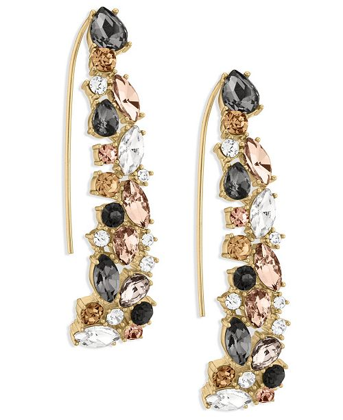ZAXIE by Stefanie Taylor Zaxie Shimmer and Spice Cluster Stone Threader Earrings