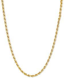 "Rope 18"" Chain Necklace in 18k Gold-Plated Sterling Silver"