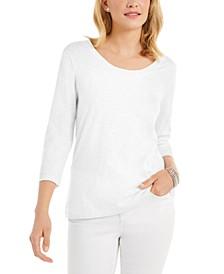 3/4-Sleeve Scoop-Neck Top, Created for Macy's