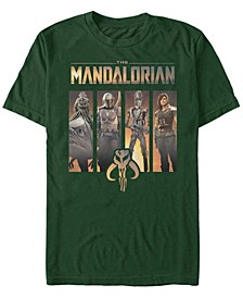 Men's The Mandalorian Character Portrait Panels Short Sleeve T-Shirt