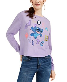 Juniors' Graphic-Print Stitch Long-Sleeve T-Shirt