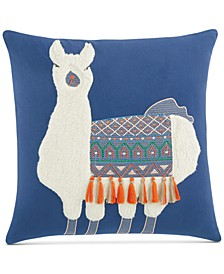 "Llama 18"" x 18"" Decorative Pillow, Created For Macy's"