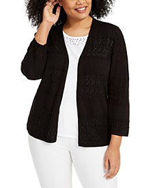Plus Size Classics Two-For-One Sweater Top
