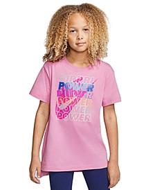 Big Girls Cotton Girl Power T-Shirt