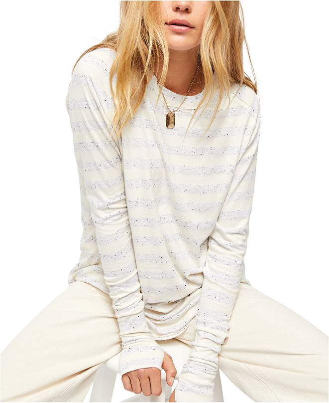 Free People Arden Striped Long-Sleeved T-Shirt