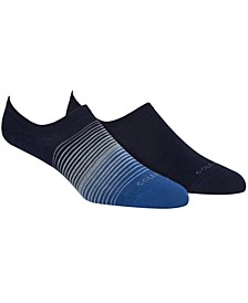 Men's 2-Pk. No-Show Socks