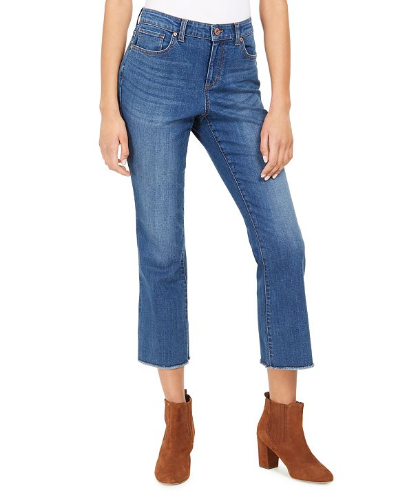 Style & Co Cropped Denim Jeans, Created for Macy's
