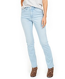 Tummy-Control Straight-Leg Denim Jeans, Created for Macy's