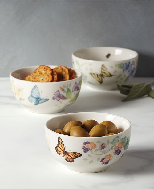 Lenox Butterfly Meadow Kitchen  Mini Bowl Set/3, Created for Macy's