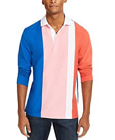 Men's Vertical Stripe Long Sleeve Rugby Shirt, Created for Macy's