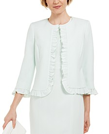 Ruffled Stretch Crepe Jacket