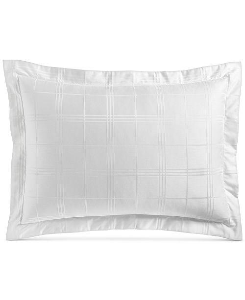 Charter Club Windowpane Standard Sham, 550-Thread Count Supima Cotton, Created For Macy's