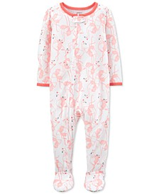 Baby Girls 1-Pc. Flamingo Footie Pajama