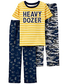 Little & Big Boys 3-Pc. Heavy Dozer Pajamas Set