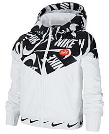 Big Girls Sportswear Hooded Windrunner Jacket