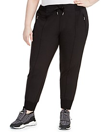 Plus Size Pintuck Joggers