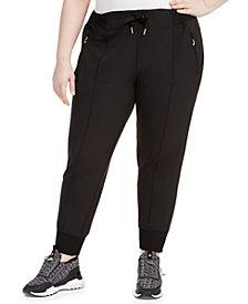 Calvin Klein Performance Plus Size Pintuck Joggers