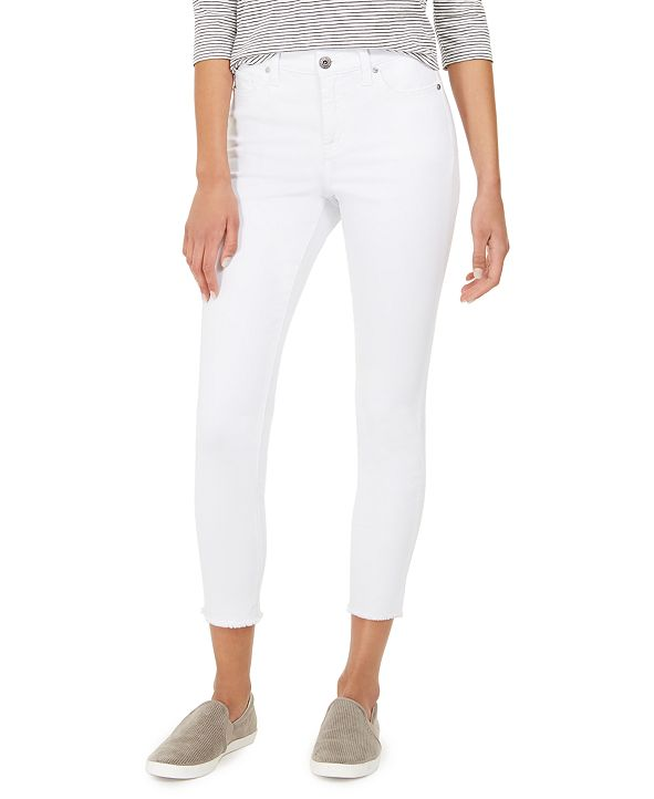Style & Co Ankle-Fray Denim Jeans, Created for Macy's