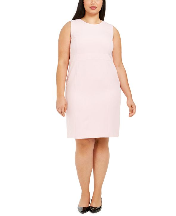 Kasper Plus Size Stretch Crepe Sheath Dress