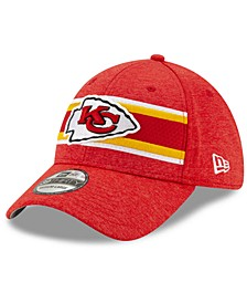 Kansas City Chiefs Striped Front Tech 39THIRTY Stretch Fitted Cap