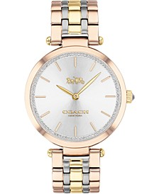 Women's Park Tri-Tone Stainless Steel Bracelet Watch 34mm
