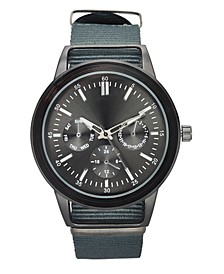 INC Men's Gray Nato Strap Watch 45mm, Created for Macy's