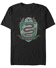 Harry Potter Men's Slytherin Quidditch Badge Short Sleeve T-Shirt