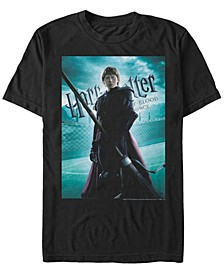 Harry Potter Men's Ron Quidditch Poster Short Sleeve T-Shirt
