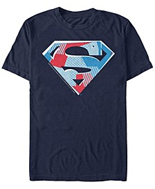 DC Men's Superman Cutout Logo Short Sleeve T-Shirt