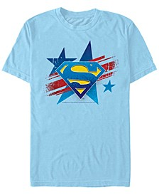 DC Men's Superman Stars Logo Short Sleeve T-Shirt