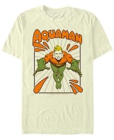 DC Men's Retro Aquaman Portrait Short Sleeve T-Shirt