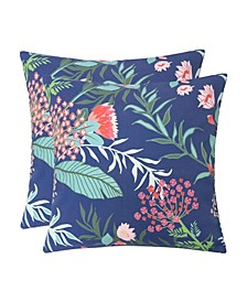 Outdoor Pillow, Tropical Leaf - Set of 2