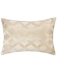 Ellie Satin Jacquard Throw Pillow