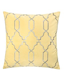 Katherine Embroidery Square Decorative Throw Pillow