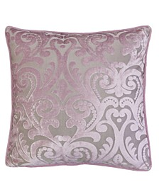 Hailey Modern Velvet Square Decorative Throw Pillow