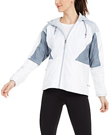 Plus Size Side Hill Lined Hooded Windbreaker