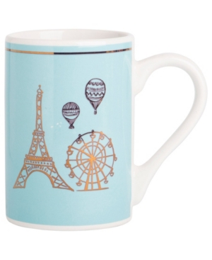 Home Essentials Adore Paris Blue Mug, Created for Macy's