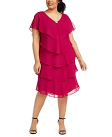 Plus Size Tiered Shift Dress